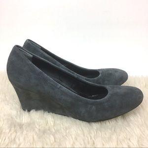 NEW Vionic Camden wedge suede leather heel